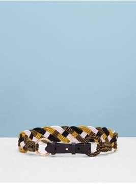 Diane von Furstenberg | Braided Belt | M | Yellow/ black/ white