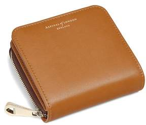 Aspinal of London Mini Continental Zipped Coin Purse In Smooth Tan