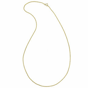 JCPenney FINE JEWELRY 14K Yellow Gold 16-22 1mm Rope Chain