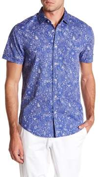 Report Collection Ocean Short Sleeve Slim Fit Shirt