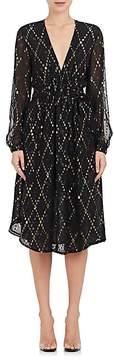 A.L.C. Women's Samantha Silk-Blend Midi-Dress