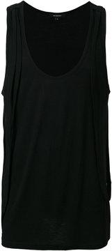 Unconditional strap detail vest