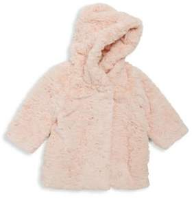 Billieblush Baby's & Toddler's Faux Fur Printed Coat