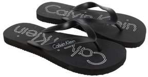 Calvin Klein Allister Black White Mens Flip Flops Sandals