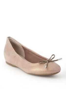 Rockport Bow Textured Ballet Flats