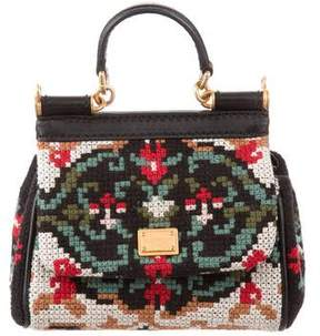 Dolce & Gabbana Mini Knit Miss Sicily Bag