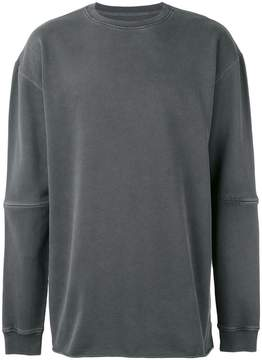 MHI oversized seam panel sweater