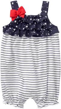Gymboree Gym Navy Stripe & Racing Red Stars & Stripes Romper - Newborn & Infant