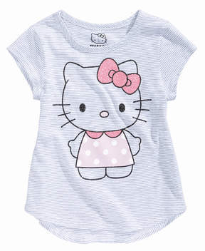 Hello Kitty Striped Graphic-Print T-Shirt, Little Girls (4-6X)