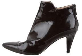 Aquatalia Patent Leather Pointed-Toe Ankle Boots