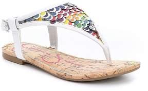 Jessica Simpson Girls' Kambria Sequin Thong Sandals