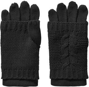 Joe Fresh Women's Cable Knit Gloves, Black (Size O/S)