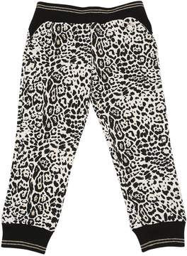 Roberto Cavalli Leopard Printed Cotton Sweatpants