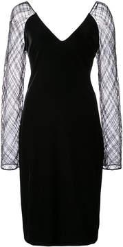 Badgley Mischka sheer sleeves dress