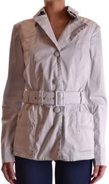 Geospirit Women's Grey Cotton Trench Coat.