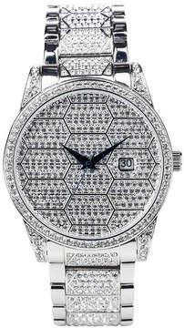 Croton N/A Mens Silver Tone Bracelet Watch-Cc311359rdbk