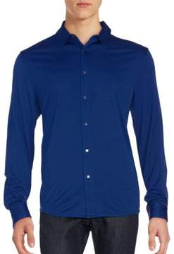 Calvin Klein Snap Front Solid Shirt