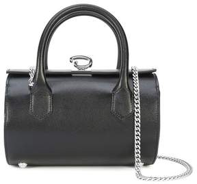 Oscar de la Renta Black Saffiano Mini Battery Bag