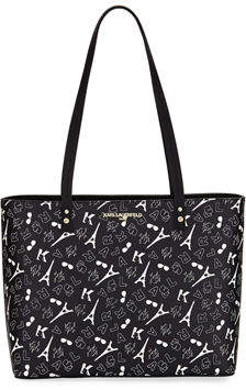 Karl Lagerfeld Paris Maybelle Novelty Print Tote Bag