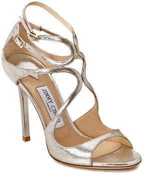 Jimmy Choo Lang Glitter Leather Sandal