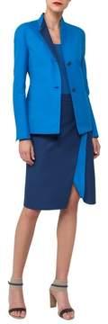 Akris Double Face Stretch Cotton Wrap Skirt