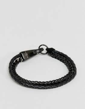 Aldo Layered Bracelet In Matt Black