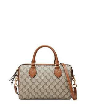 Gucci GG Supreme Small Top-Handle Bag, Beige - BEIGE - STYLE