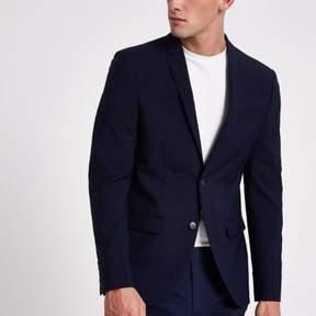 River Island Mens Navy skinny suit jacket