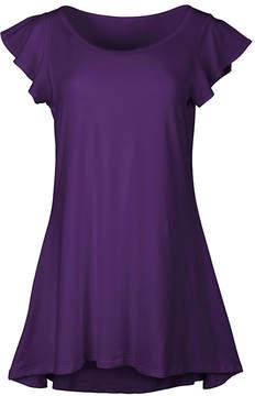 Lily Purple Flutter-Sleeve Tunic - Women & Plus