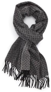 Nordstrom Men's Diamond Trellis Wool Scarf