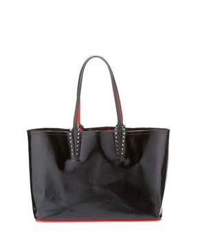 Christian Louboutin Cabata Spiked Patent Tote Bag