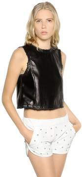 Drome Cropped Sleeveless Nappa Leather Top
