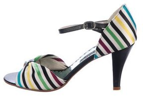 Marc Jacobs Striped Satin Pumps