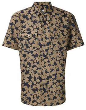 Julien David woven floral shirt
