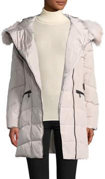 1 Madison Women's Fox Fur-Trimmed Down Coat