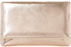 Dune Reptile-effect metallic clutch bag
