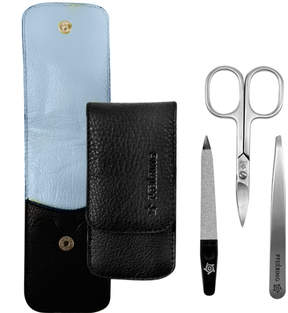 Pfeilring Manicure Set - Black/Light Blue by 3pcs Set)