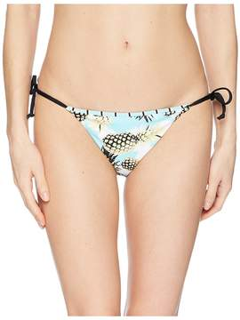 Bikini Lab THE Pineapple Playa Reversible String Tie Hipster Bottom Women's Swimwear