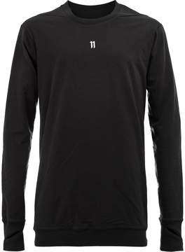 11 By Boris Bidjan Saberi eleven print sweatshirt
