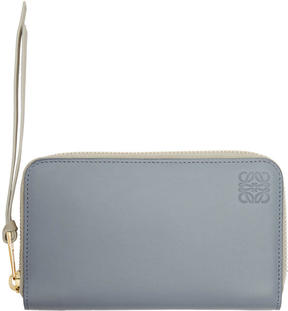 Loewe Blue Medium Zip Around Wallet