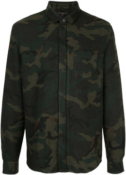 IRO long sleeved camouflage shirt