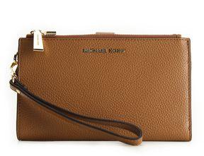 MICHAEL Michael Kors Double Zip Wristlet Wallet Acorn - BROWN - STYLE