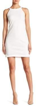 Alexia Admor Crochate Net Halter Sheath Dress