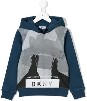 DKNY skateboarder print hoodie