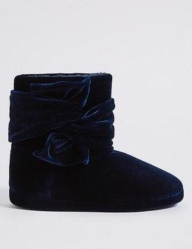 Marks and Spencer Velvet Knot Slipper Boots