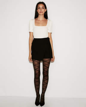 Express Square Neck Puff Sleeve Tee