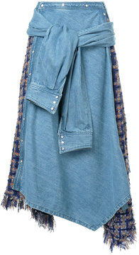 Aula denim overlay skirt