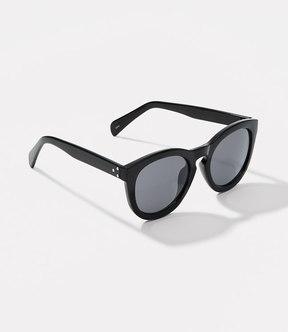 LOFT Studded Round Keyhole Sunglasses