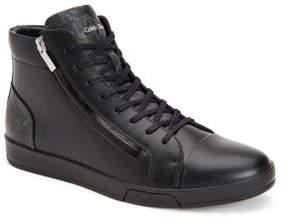 Calvin Klein Berke Leather High Top Sneakers
