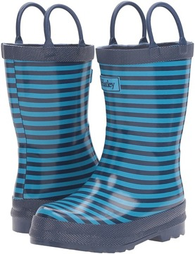 Hatley Navy Striped Rain Boots Boys Shoes
